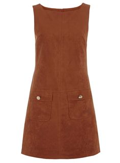 Ginger suedette pinny dress #StyleHeroes #DorothyPerkins