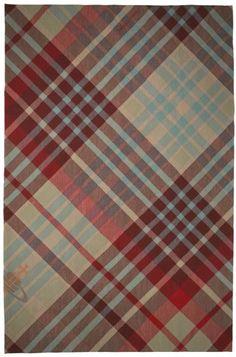 Tartan rug from the Rug Company