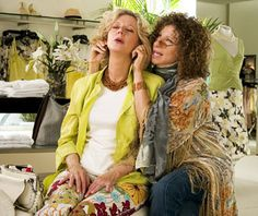 """Roz Focker (Barbra Streisand): """"How's your sex life?"""" // Dina Byrnes (Blythe Danner): """"I can't tell you that!"""" // Roz Focker: """"I'm a professional. Dina, I'm a sex therapist specializing in senior sexuality."""" // Dina Byrnes: """"I knew those weren't yoga mats!"""" -- from Meet the Fockers (2004) directed by Jay Roach"""