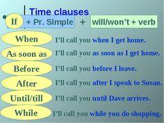 Conditionals - learn English,grammar,tenses,conditional English Time, English Fun, English Writing, English Study, English Lessons, English Grammar Test, English Verbs, English Language Learning, Teaching English