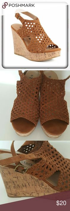 Mudd Brown Woven Wedges New without box. Very comfortable with a 3 1/2 inch heel. Mudd Shoes Wedges