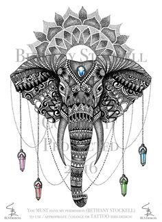 Mandala Elephant - Bethany Stockell by BethanyStockell.deviantart.com on @DeviantArt