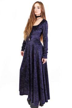 Midnight Blue Velvet Maxi - XS/S/M