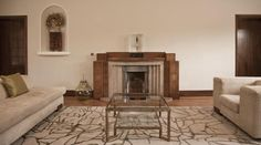What a great deco fireplace Rundell-Associates-Art-Deco-Dorchester-Drive-Living-Room