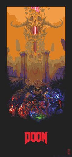 Valery Kim Pixel Art — DOOM Poster 44 colours