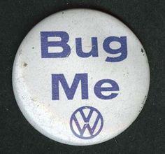 Vintage VW Beetle Button