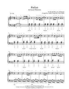 perfect piano music sheet pdf