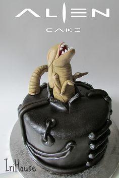 Alien Cake, Alien Cupcakes, Movie Cakes, Fantasy Cake, Fondant Cakes, Cupcake Cakes, Aliens, Creative Cakes, Cake Art