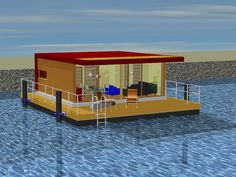 floating house -PH30- with fixation to piles