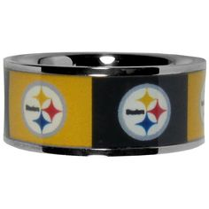 "Checkout our #LicensedGear products FREE SHIPPING + 10% OFF Coupon Code ""Official"" Pittsburgh Steelers Steel Inlaid Ring Size 10 - Officially licensed NFL product Licensee: Siskiyou Buckle High-quality way to show off your team pride Stainless steel ring Team design inlaid around the entire ring Crisp Pittsburgh Steelers graphics - Price: $17.00. Buy now at https://officiallylicensedgear.com/pittsburgh-steelers-steel-inlaid-ring-size-10-fris160-10"