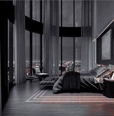 Home Building Design, Home Room Design, Dream Home Design, Modern House Design, Luxury Bedroom Design, Dream House Interior, Luxury Homes Dream Houses, Mansion Interior, Black Interior Design