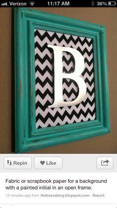 Framed letter DIY