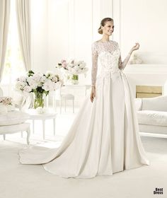Perfect Wedding Dresses wedding dresses wedding glamour featured fashion. With out sleeves