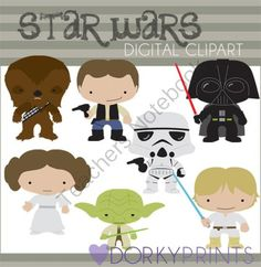 Star Wars Inspired Digital Clip Art from Dorky Doodles on TeachersNotebook.com…