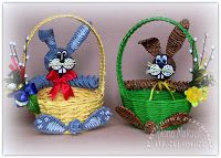 ... Paper Weaving, Newspaper Crafts, Paper Basket, Polymer Clay Crafts, Paper Decorations, Easter Crafts, Easter Eggs, Wicker, Diy And Crafts