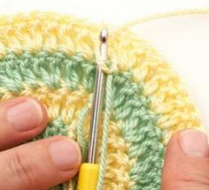 Increase your basic crochet skills.  Includes color/skein change, weaving off ends (finishing), crochet in the round.