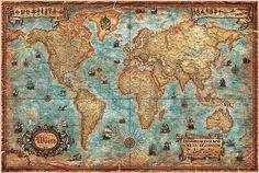 Headboard/Welt Karte von Ray & Co..