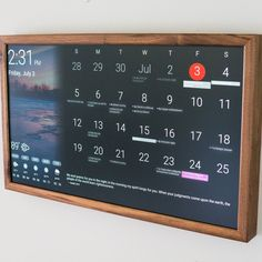 French Cleat System, Wifi Connect, Online Calendar, Photo Displays, Display Photos, Digital Wall, Smart Home, Sd Card, Painting Frames