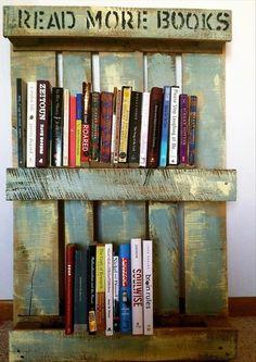 Pallet Book Shelf   #pallet #bookshelf #diy #reuse #recycle #upcycle #shelf #decor #home