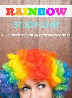 FREE Rainbow Study Unit for Homeschool and Classroom + Children's Rainbow Books Reading List | The Jenny Evolution