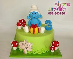 smurf cake by cakes-mania עוגת דרדס קונדסון מאת שיגעון העוגות - www.cakes-mania.com
