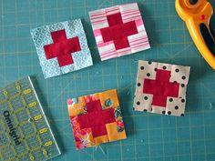 building blocks for Love quilt by StitchedInColor, via Flickr