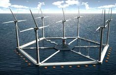 Floating power island will harvest wind on the waves. #Sustainable #Sustainability