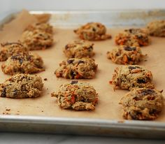 Paleo carrot dark chocolate chunk cookies