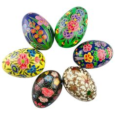 Handpainted Russian wooden Easter eggs