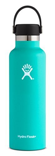 Hydro Flask 18 oz Double Wall Vacuum Insulated Stainless Steel Leak Proof Sports Water Bottle, Standard Mouth with BPA Free Flex Cap, Mint. For product & price info go to:  https://all4hiking.com/products/hydro-flask-18-oz-double-wall-vacuum-insulated-stainless-steel-leak-proof-sports-water-bottle-standard-mouth-with-bpa-free-flex-cap-mint/