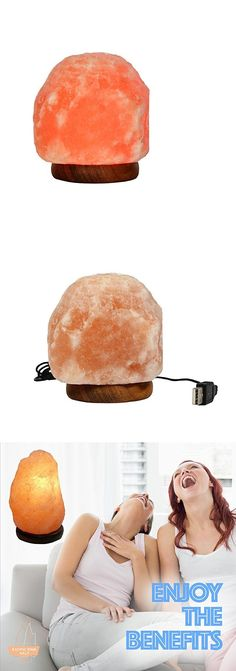 Light Therapy Devices: Exotic Pink Salts Led Usb Himalayan Salt Lamp, 1  Pound
