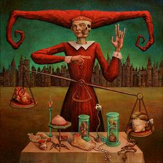 Michael Hutter - ''To evoke these pictures I developed some techniques which consists of my way to deal with literature, art, music, philosopy, science, religion and pseudo-science afar from mainstream culture. I dont care for reality or the probability that something is true, only for its potential to stimulate my thought.