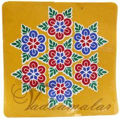 Kolam stickers for home and pooja room decorations