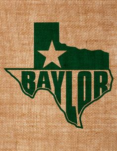 Burlap #Baylor wall art ($30 on Etsy; seller has other BU designs as well)