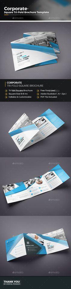 Co Corporate Bifold Brochure Ai Illustrator Brochure Template