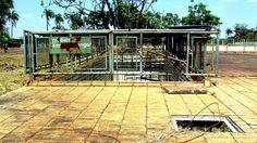 Piscina com Ondas no Parque da Cidade | retrato do abandono desde a década de 1980 | Equipamentos que provocavam as ondas da piscina