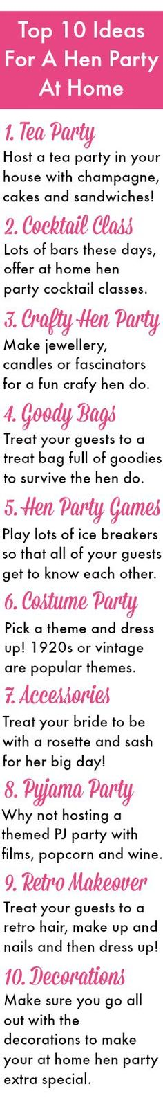 Hen Party Ideas v1 – Top 10 Ideas For A Hen Party At Home | HenBox Blog