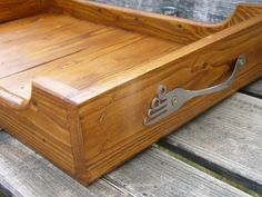 Tray from old wood and fork