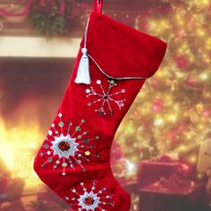 Giant Christmas Stocking Extra Large Velvet Personalised With Fast Shipping Amys Gifts Stockings Specialist