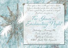 Enchanted Snowflakes Sweet 15 Invitation