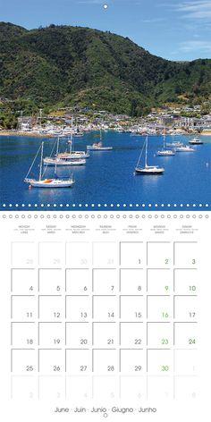 "Reisekalender mit Planer ""New Zealand – Variety of the South Island"", Kalenderblatt Juni: Seaport Picton"