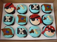 Pirate cupcakes! Mrs. Sugar Britches Bakehouse