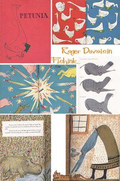 Roger Duvoisin Mid-Century Illustrator Part 1 Roger Duvoisin, Jean Giraud, Ex Libris, Beatrix Potter, Book Of Kells, Chalk Pastels, Illuminated Letters, Typography Prints, Linocut Prints