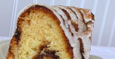 Baked in a bundt pan to feed a crowd, this delicious sour cream coffee cake has a cinnamon swirl in the middle. Streusel Coffee Cake, Sour Cream Coffee Cake, Easy Cake Recipes, Sweet Recipes, Baking Recipes, Strudel, Cinnamon Coffee, Salty Cake, Pudding