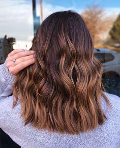 Brown Hair Balayage, Hair Highlights, Hair Inspo, Hair Inspiration, Aesthetic Hair, Hair Designs, Hair Type, Hair Hacks, Hair Goals
