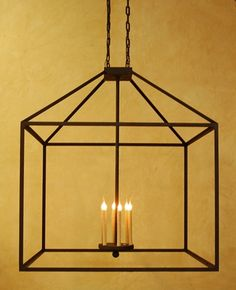 Wrought iron chandelier. Perfect for a farmhouse style kitchen with a contemporary twist. Hand forged and custom made by Laura Lee Designs.