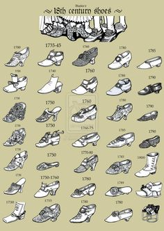 18th Century Shoes An introduction to corns and bunions!! Haha look at the shapes of these!