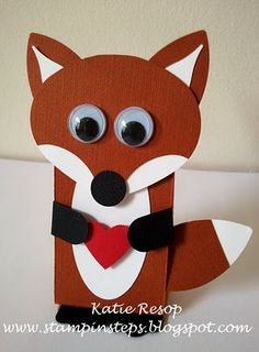 "I have to make these for the kids for Valentines day and play them the ""What does the Fox say""song <3"