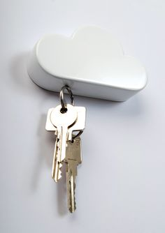 """cloud"" gadget - I'm guessing these are magnetic...I doubt this would hold my keys...too many random key rings."