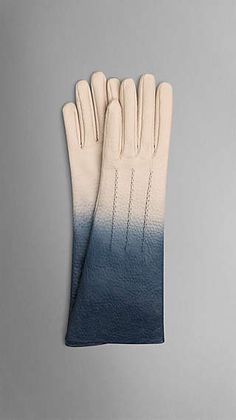 Long Dégradé Leather Gloves